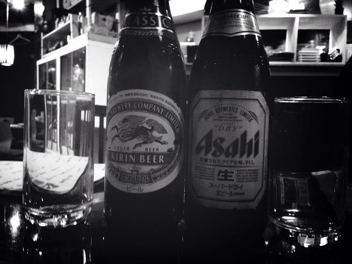 Beer Black And White Japanese Beer
