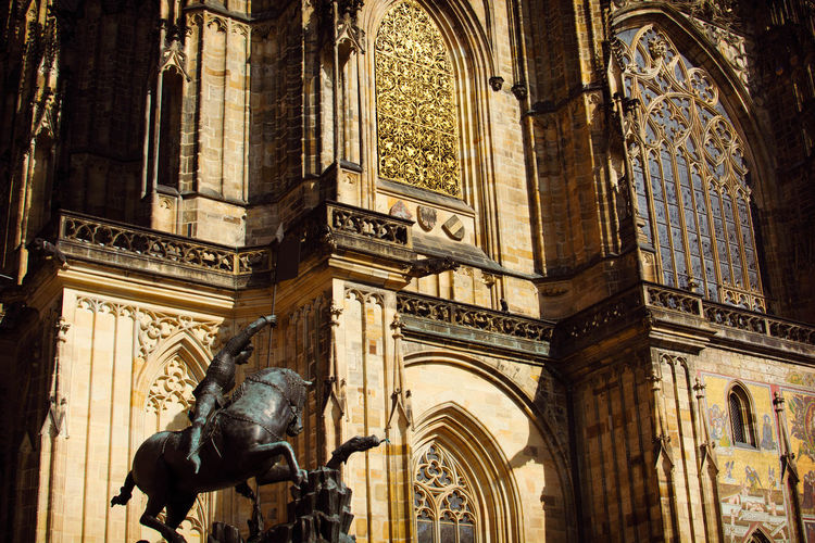 Low Angle View Of St Vitus Cathedral