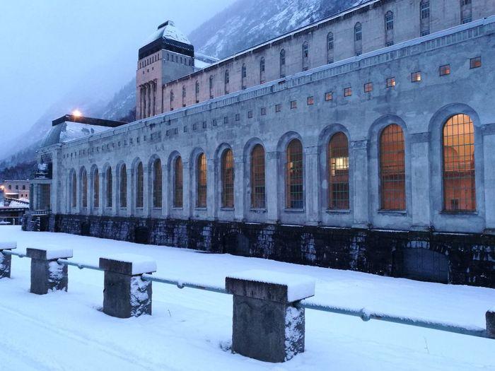 Architecture Frozen Cold Temperature No People Saaheim Kraftverk