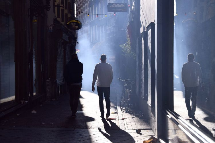 Kingsday 2015 Streetphotography Street Photography Light And Shadow Dust Smoke Darkness And Light Streetphoto_color