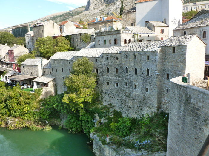 Mostar Bosnia Architecture Building Exterior Built Structure Day Mostar Town Mountain Nature No People Outdoors Sky Tree Water