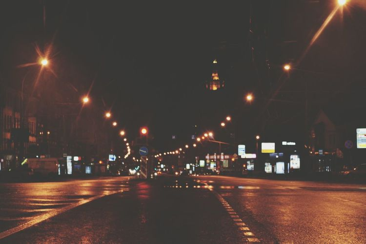 On The Road Night Night Lights Ligths Road Russia Moscow Woid No Traffic