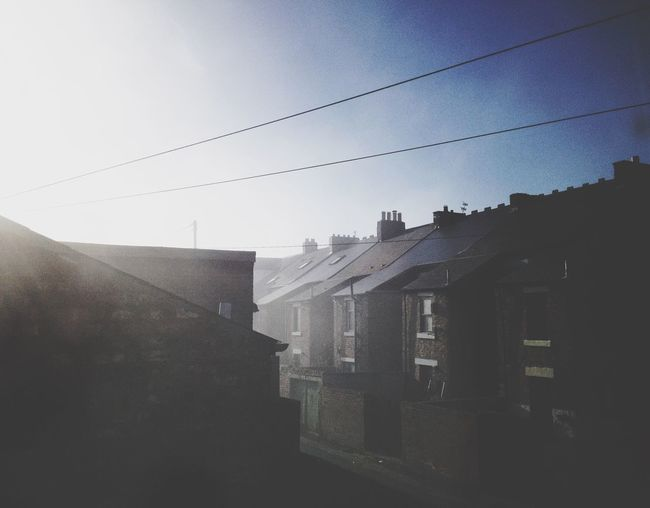foggy morning Foggy Morning Fog Architecture Building Exterior Built Structure Cable No People House Outdoors Day Sky City