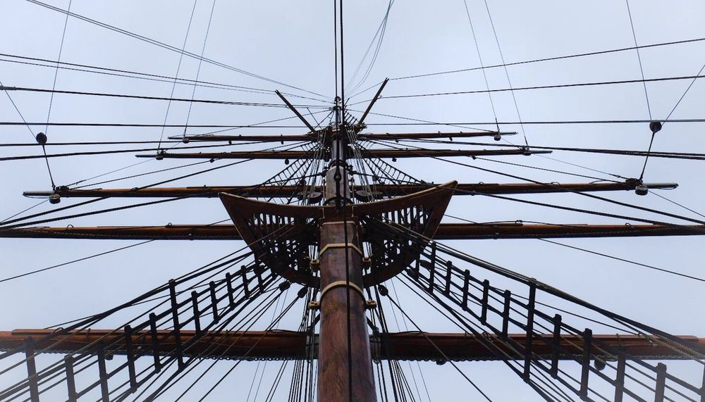 Low Angle View Sky Outdoors No People Day Mast Tall Ship Nature Nautical Vessel Dundee RSS Discovery Ship Rigging