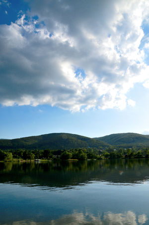 Poland Beauty In Nature Cloud - Sky Day Environment Idyllic Jezioro Bielawskie Lake Lower Silesia Mountain Nature No People Non-urban Scene Outdoors Owl Moutains Plant Reflection Scenics - Nature Sky Skyscraper Tranquil Scene Tranquility Tree Water Waterfront