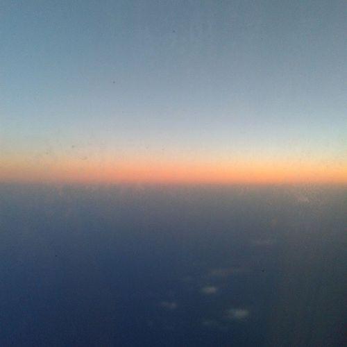 Volo Alla Prossima Barcellona Tutti  A Roma Tramonto Aereo