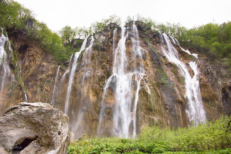 Plitvice, Croatia Beauty In Nature Cliff Croatia Day Forest Grass Landscape Motion Mountain Nature No People Outdoors Plant Plitvice National Park Rock - Object Scenics Sky Tranquil Scene Tranquility Travel Destinations Tree Water Waterfall
