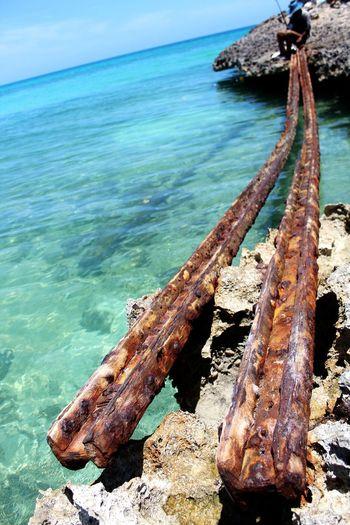 Fisherman Cuba Cayo Coco Cuba Rails Water Sea Rock - Object Sky