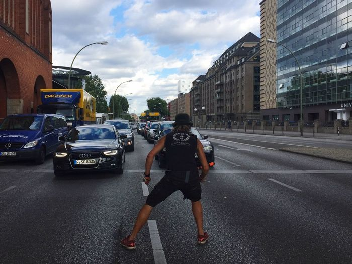 Athleisure Daredevil Busker Berlin Road Summer Europe