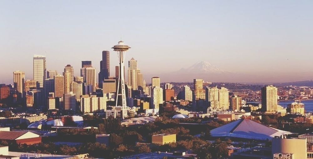 Seattle skyline☔️ Cityscapes First Eyeem Photo