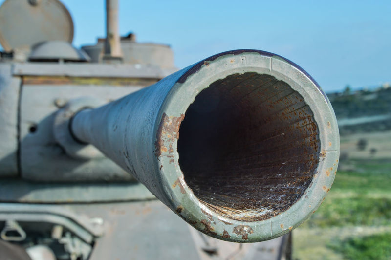 Antique Tank Army Close-up Day Gun Barrel No People Outdoors Sky