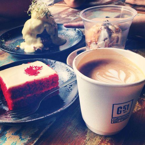 Garage 51 Red Velvet Coffee Saturday Noon