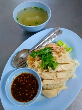 Chicken rice Food And Drink Indoors  Temptation Ready-to-eat Bowl Serving Size Healthy Eating Plate Food Thai Food Thai Cuisine Meal Served Dinner Cooked Chicken Rice Soup Si Racha Lunch Food And Drink High Angle View