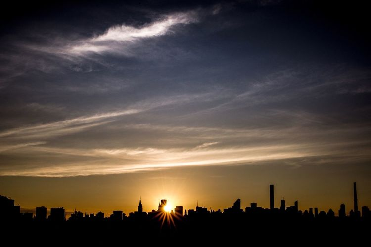 Skyline Sunset NYC NYC LIFE ♥ NYC Photography NYC Skyline New York New York City Architecture Building Building Exterior Built Structure City Cityscape Cloud - Sky Landscape No People Office Building Exterior Orange Color Outdoors Silhouette Sky Skyscraper Sun Sunlight Sunset Urban Skyline