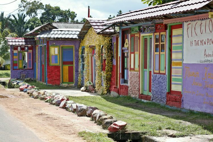 Architecture Belitong Belitong Travel Destination Building Exterior Built Structure Colourful Home Colourful House Day Multi Colored Museum Andrea Hirata No People Outdoors Pattern Travel Destinations