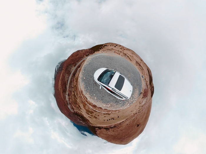 Travel, car, on the road China Landscape Outdoors Travel Traveling Road Car Road Trip Cloud - Sky Sky Nature Day No People Shape Sphere