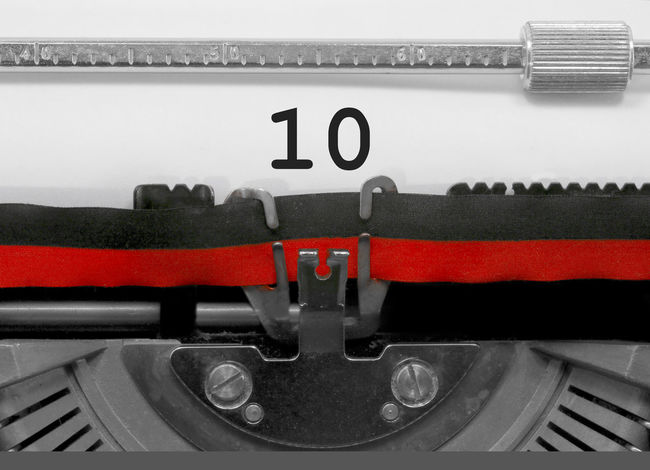 10 Number by the old typewriter BIG NR Numbers Only Retro Tenth Text Type Writer Word Writing Backgrounds Binary Nostalgia Number Numbers Numeral Numerals Numeric Page Ten Typewriter Typewriting Vintage Written