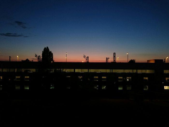 Skyline Sunset Sun Gare Gare De Bretigny Sur Orge Bretigny Val D'orge Train Station Agglomeration Du Val D'orge