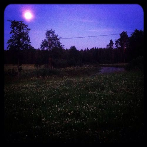 Lovley night here in the country side Country Side Full Moon Night  River Clover Field