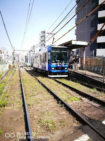 都営荒川線の東池袋電停 Train - Vehicle Railroad Station Railroad Station Platform Outdoors Sunlight Bunkyo-ku Tokyo,Japan