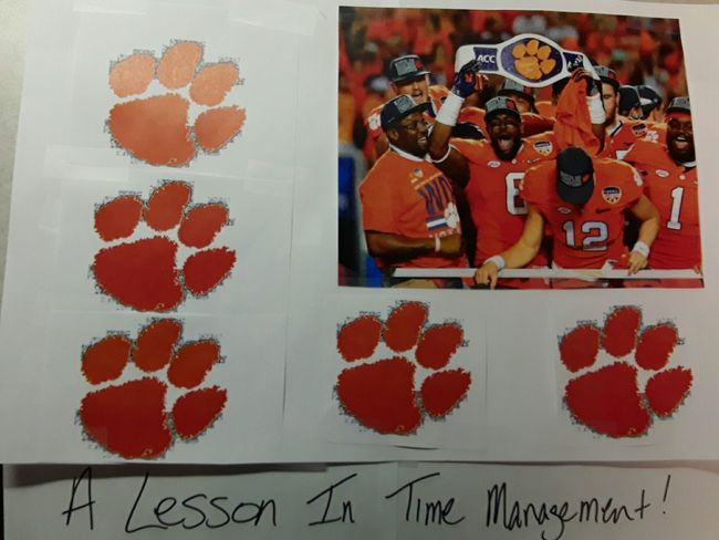 Day 10: I don't trash talk, but I do go to work early to decorate my boss's desk when he bets against my Tigers and they win! 365DaysOfAwesomeness PhotographyProject Day10 Clemson Tigers Champions