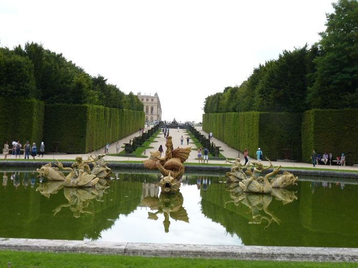 Sculptures Of Fountain At Palace Of Versailles