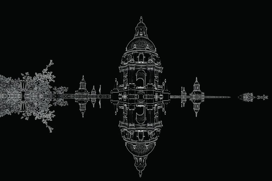 Abstract Architecture Architecture_bw Surreal_manipulation Photo Manipulation Digital Manipulation City Hall