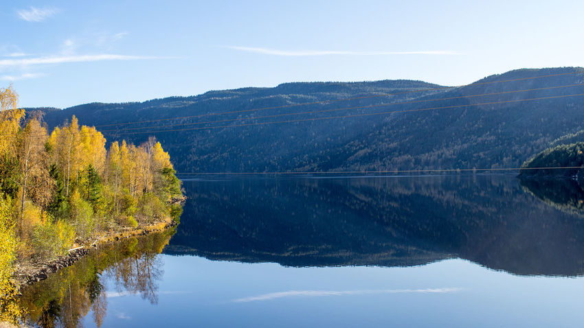Lake Autumn Norway October Beauty In Nature Day Idyllic Lake Landscape Mountain Mountain Range Nature No People Outdoors Reflection Scenics Seljord Sky Telemark Tranquil Scene Tranquility Tree Water Waterfront