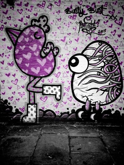 The Chicken & The Egg Streetart Andrographer A Touch Of Colour Vignette For Android