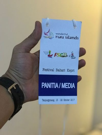 I am so proud Text Western Script Human Hand Communication One Person Real People Close-up Human Body Part Indoors  Day People Event Pass Festival Bahri Kepri 2017 Wonderful Riau Islands Tanjung Pinang Riau, Indonesia