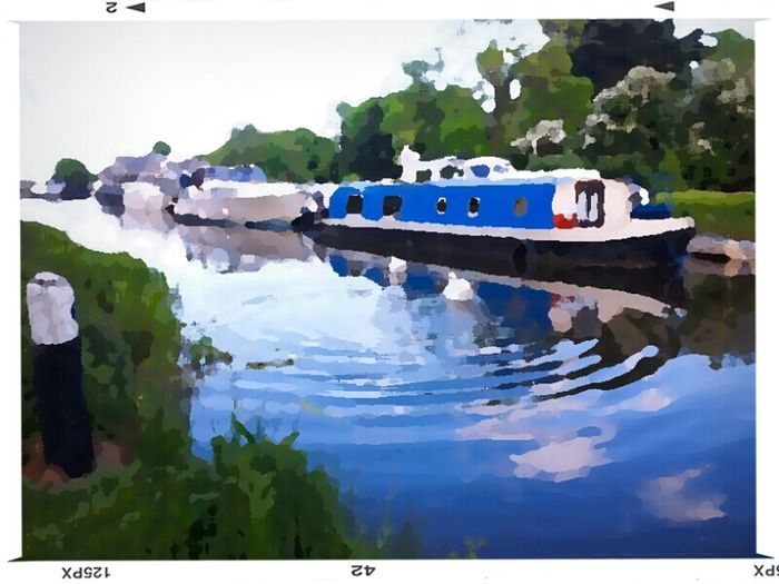 Oil Painting Photograph Boats Art, Drawing, Creativity Hdr_Collection