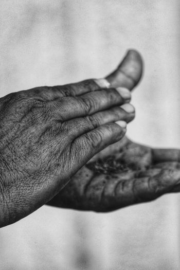 Cropped image of man clapping hands