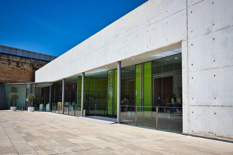 Es Baluard Museum Of Modern Art Mallorca Museum Of Modern Art Palma De Mallorca Architecture Balearic Islands Building Building Exterior Built Structure Concrete Wall Entrance Glass - Material Glass Windows Mallorcaphotographer Modern Museum