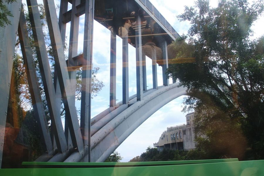 Oct Cable Car Glass Reflection Bridge Sky Tree Water Outdoors Wide Shot Modern Built Structure Carriage Uphill 东部华侨城 缆车