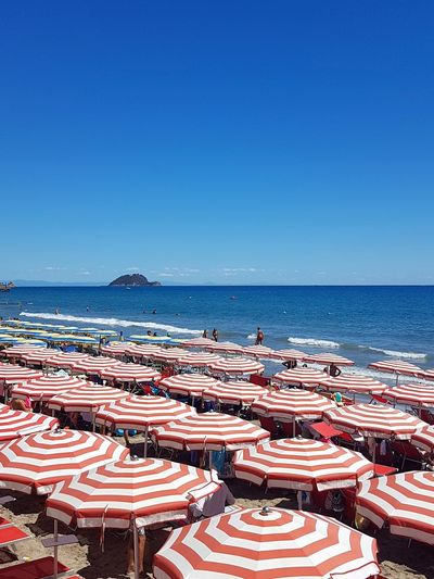 Beach Business Finance And Industry Sea Water Outdoors Horizon Over Water Retail  No People Day Blue Sand Stack Clear Sky Sky Nature Summer Liguria, Italy Alassio Liguria