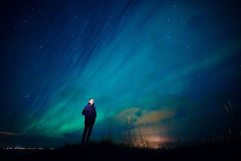 aurora KP.5! Iceland Winter Aurora Aurora Polaris Northern Lights Blue Sky Astronomy Star - Space Full Length Standing Galaxy Ethereal Silhouette Mystery Illuminated Moon Aurora Polaris
