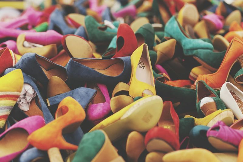 Full Frame Shot Of Stilettos