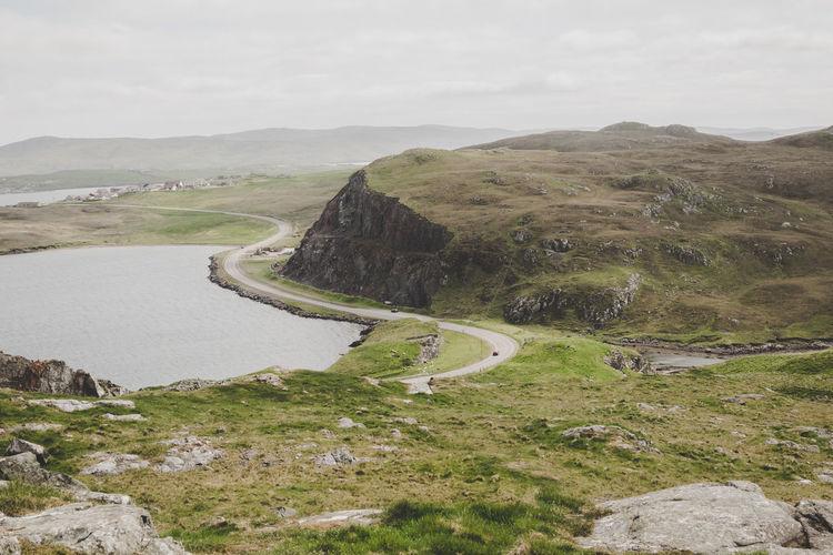 Island Scotland Water Winding Road Road Sky Landscape Shore Mountain Road Tranquil Scene Scenics Coast Remote Tranquility The Great Outdoors - 2018 EyeEm Awards The Traveler - 2018 EyeEm Awards
