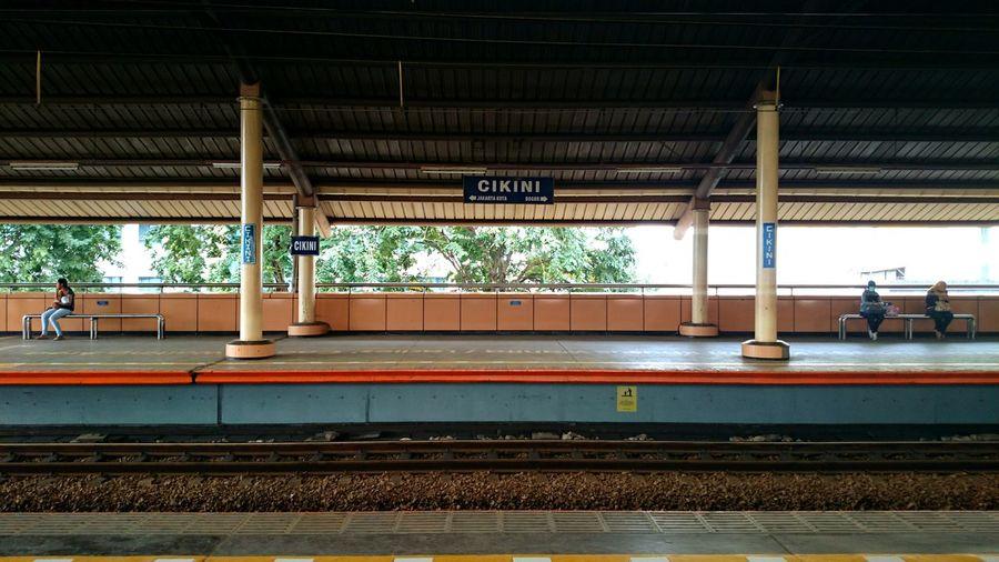 Train Station Jakarta Indonesia Train Tracks