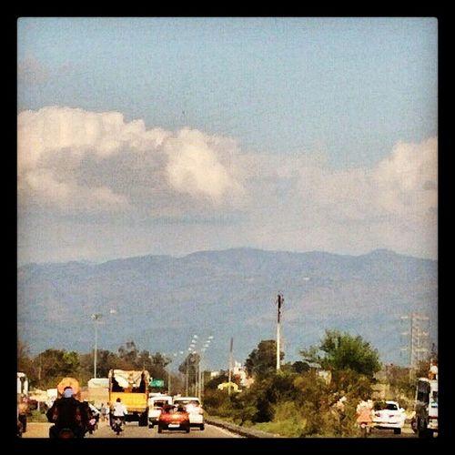 Hills Clouds Random click