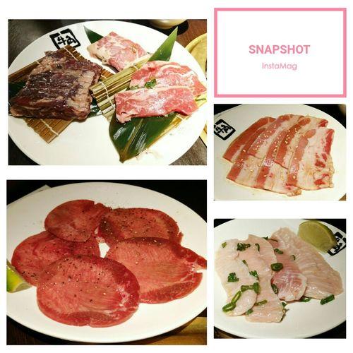 先烤一波 1~ ギュウカク Gyukaku 牛角 燒肉 牛角燒肉 Collage Multiple Image Meat Plate Variation Choice Digital Composite Close-up Food And Drink
