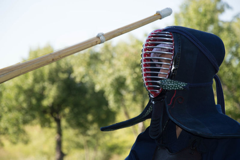 Tradition Outdoors Day People Adult Sport Kendo One Person Training