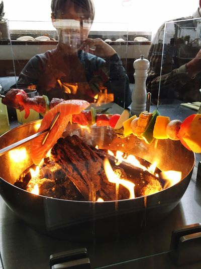 Iismeer, sylt table bbq Cook Food Special Event Dining Food And Drink Food Preparation  Burning Fire Freshness Fire - Natural Phenomenon Restaurant Healthy Eating