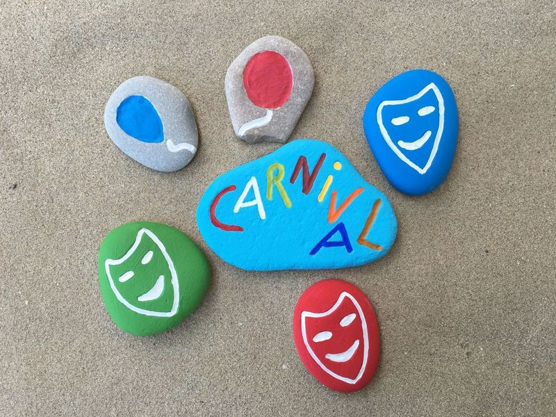 Colors Of Carnival Carnival Carnival Masks Stones Art Work Craft Work Party Stone Art Karnival Carnevale Carnival Spirit Carnival Party Carnival Concept