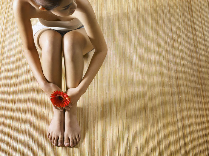 pedicure concept Adult Adults Only Bamboo Background Beautiful Woman Beauty Close-up Day Females Human Body Part Human Leg Human Skin Indoors  Low Section One Person Only Women Pedicure People Sitting Spa Treatment Standing The Human Body Women Young Women