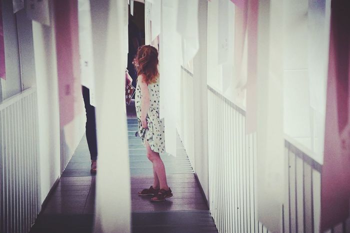 Walking Indoors  Window Corridor Togetherness Solitude New Talents EyeEm Best Edits Pivotal Ideas Popolar Photo Berlin Portraits Person Portrait Photography People Of EyeEm People Photography Colour Of Life Portraitist - 2016 Eyeem Awards Hamburger Bahnhof Capture Berlin Capture The Moment
