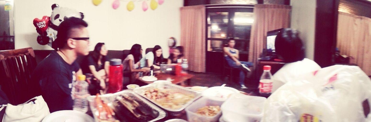 At Amanda's birthday chalet!