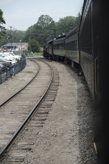 Essex Steam train Architecture Building Exterior Built Structure Day Land Vehicle Locomotive Mode Of Transport No People Outdoors Passenger Train Public Transportation Rail Transportation Railroad Track Sky The Way Forward Train - Vehicle Transportation Travel Tree
