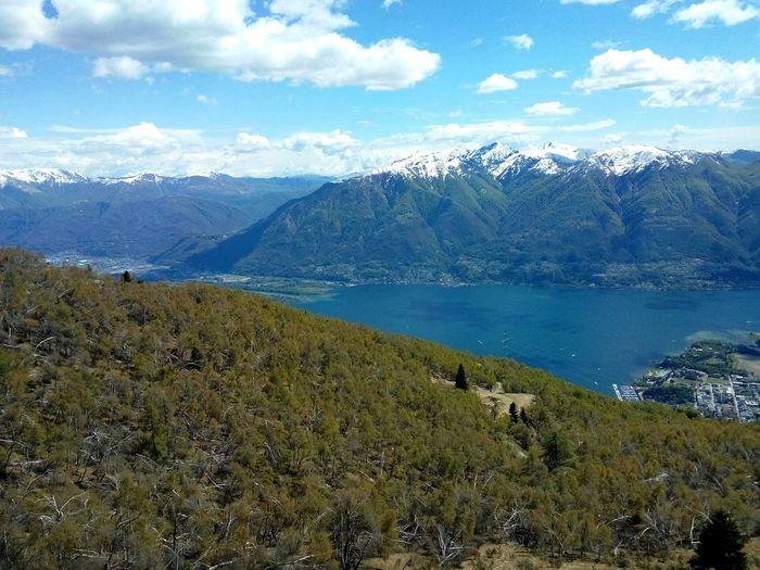 Mountain Mountain Range Landscape Cloud - Sky Sky Outdoors Scenics Beauty In Nature Lake Maggiore ❤️ Svizzerland Lake Blue Snow ❄