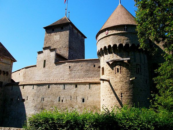 Chateau De Chillon Chillon Castle Chinon Geneva Geneva Lake Lake Of Geneva Switserland Switzerland Alps Architecture Building Exterior Built Structure Chillonchateau Chilon Château De Chinon Clear Sky Day History Lake Landscape Low Angle View No People Outdoors Religion Sky Switzerland Switzerlandpictures Switzerland❤️ Travel Destinations Veytaux Postcode Postcards